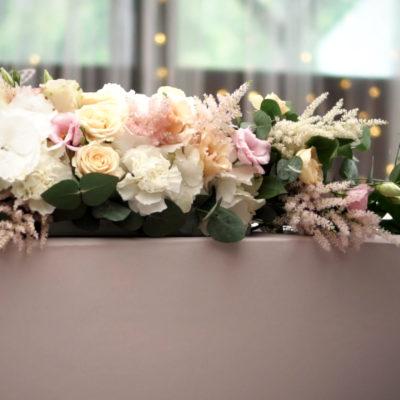 Mr. & Mrs. květiny - dekorace
